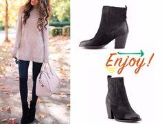 Botine negre din piele intoarsa  5 perechi de cizme si botine must-have in aceasta toamna - Nappo Shoes Blog