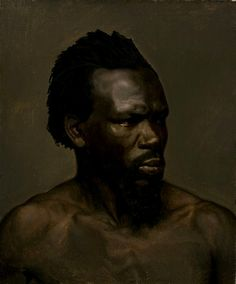 """Portrait of A Black Man"" - Nils Blommér (Swedish, oil on canvas {male head face painting African American Art, African Art, National Gallery, Oil Portrait, Portrait Paintings, Afro Art, Black Artists, Western Art, Figure Painting"