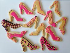 High Heel Cookies, High Heel Cupcakes, Shoe Cookies, Custom Cookies, 50th Birthday Party, Birthday Cookies, Iced Cookies, Sugar Cookies, Bikini Cookies