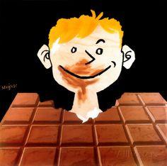 レイモン・サヴィニャック チョコレート(1988年) アートプリント