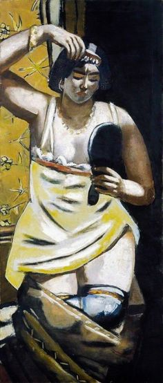 Max Beckmann (1884-1950), The Gypsy Woman (1928), oil on canvas, 58 x 136 cm. Collection of Hamburger Kunsthalle