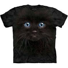 The Mountain BLACK KITTEN FACE T-SHIRT Cute Big Head Cat Tee S-3XL NEW! #blackkitten #blackcat