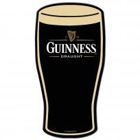 Guinness Beer Pint Glass Flat Die Cut Bar Sign