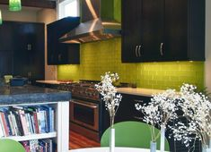 green subway tile kitchen backsplash Supreme Glass Tiles Light
