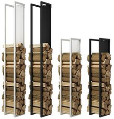 This elegant and practical RAIS Woodwall Firewood Holder is the perfect indoor storage solution for your woodburning fire or stove. Available in black or white from Robey's in Derbyshire. Home Fireplace, Modern Fireplace, Living Room With Fireplace, Fireplace Design, Indoor Firewood Rack, Firewood Holder, Firewood Storage, Room Interior, Interior Design Living Room