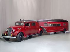 1938 Curtis Trailer Custom Combo. 1938 Chevy HC 1ton Truck w/207ci ohv I-6 & 4sp manual,  and 5th wheel hitched Curtis AeroCar Trailer w/fold down beds, head/shower, kitchen, and 2x20 gal H2O tanks...