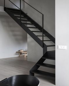 Awesome 43 Vintage Minimalist Home Stair Design Ideas That Look More Cool For Future Home Interior Design Blogs, Swedish Interior Design, Swedish Interiors, Interior Styling, Modern House Interior Design, Home Stairs Design, Interior Stairs, Steel Stairs Design, Stair Design