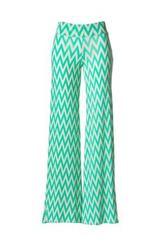 Such Great Heights Chevron Palazzo Pants - Mint