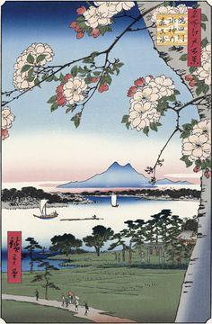 歌川広重「隅田川水神の森真崎」【復刻版】