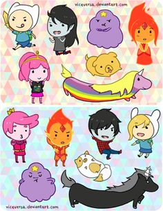 Adventure Time With Finn and Jake Photo: chibi adventure Adventure Time Characters, Marceline, Adveture Time, Time Art, Fraggle Rock, Finn The Human, Jake The Dogs, Fanart, Softies