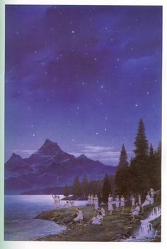 Silmarillion Cuivienen-waking up to starlight? wow I never thought I'd see an illustration of this