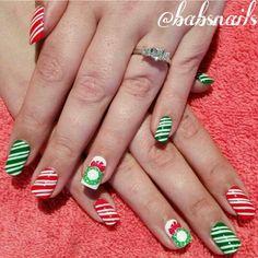 IG @babsnails Christmas Nails