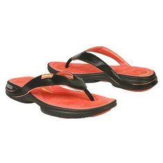 03cb7a48353b3 Reebok EasyTone Flip Flop Shoes (Black Pink Coral) - Women s Shoes - M