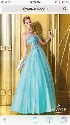 My prom dress. Alyce Paris. Prom2014