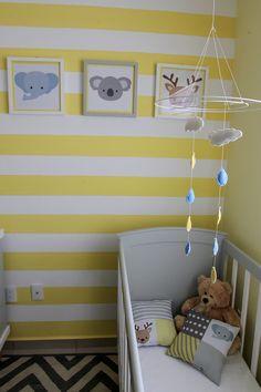 una habitación bonita de bebe #yellownursery, #greyandyellow, #greyandyellowpalette, #nurseryroom, #babyroom, #loop-d , #decoraciondebebe, #habitacionbebe, #clouds, #nubes