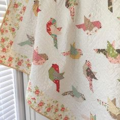 "728 Likes, 161 Comments - Margot Languedoc (@thepatternbasket) on Instagram: ""Feathers! My new pattern features another @modafabrics fig tree collection called Strawberry Fields…"""