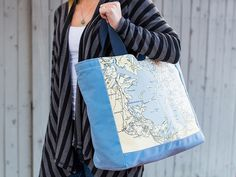 These customized side tote bags, discovered by The Grommet, turn sentimental locations into lasting mementos.