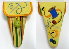 Sewing Supplies Scissors Case - Sm (In-the-Hoop) design (X5664) from www.Emblibrary.com