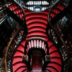 As a bookworm, I'd live for eternity in a library like this 😂 Update ⬇ Followers say that this is a bookstore in oPorto, Portugal called Livraria Lello, thanks @__cailleach__ 😘 . . . @wiccac #goth #gothgirl #gothgoth #gothic #dark #makeup #gothicmakeup #beautifulgirl #witch #magic #horror #creepy #scary #Halloween #alternative #alt #altmodel #alternativemodel #darkness #fashion #nugoth #instagoth #best