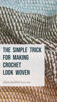 In this free Tunisian Crochet video tutorial from Make