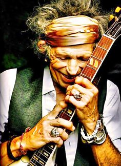 Keith Richards. Proof that age doesn't change your passion or destiny (or cool factor!).