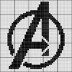 Free Avengers Symbol Cross Stitch Chart - Visit to grab an amazing super hero shirt now on sale! Logo Avengers, Avengers Symbols, Avengers Crafts, Cross Stitch Charts, Cross Stitch Designs, Cross Stitch Patterns, Cross Stitching, Cross Stitch Embroidery, Embroidery Patterns