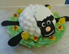 Spring Lamb Handmade Easter Bonnet hat boys / girls
