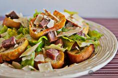 Classic Caesar Salad with Sirloin Steak