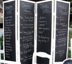 Chalkboard screen - the uses are endless. Photo: Barking Dogs Flea Market Style.