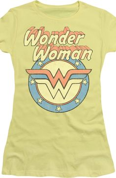 She is Wonder Woman, and this shirt shows the unmistakable logo for the DC Comics heroine. Whether she's making a hawk a dove or stopping a war with love, Wonder Cute Shirts, Cool Tees, Holy Shirt, Wonder Woman Logo, Cute Celebrities, Ladies Party, Fashion Pictures, Nerd Shirt, Shirt Designs