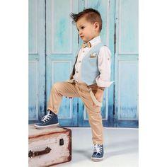 Mi Chiamo Κουστούμι Βάπτισης A4182 Boy Outfits, Casual Outfits, Page Boy, Little Boys, Kids Fashion, Khaki Pants, Hipster, Beige, Formal