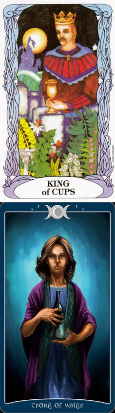 King of Cups: compassionate and a master of emotions with selfish intentions (reverse). Moon garden Tarot deck and Book Of Shadows Tarot deck: yes or no answer, tarot and how to do a tarot card reading. The best psychic reading sign and playing cards design. #empress #wheeloffortune #spellwork #ios #divination #thestar