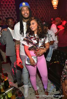 Bow Wow and his current girlfriend Kiyomi Leslie partied at Revel Lounge in Atlanta with power couple Waka Flocka and Tammy Rivera. Waka and Tammy are all settled in their new mansion in Atlanta. Waka and Tammy had a foreclosure problem at their old place Waka Flocka And Tammy, Tammy And Waka, Thick Girl Fashion, Black Women Fashion, Black Couples Goals, Cute Couples, New Outfits, Cute Outfits, Fashion Outfits