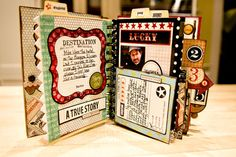 good smash ideas ... write on pockets, use washi tape to add edging to page, tabs at top & sides.