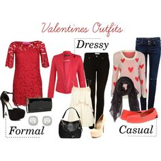 """""""Valentines Outfits for Her"""" by kenziespafford on Polyvore"""