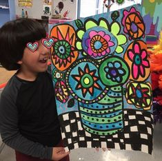 IN THE ART ROOM: HEATHER GALLER INSPIRED BOUQUETS BY SECOND GRADE