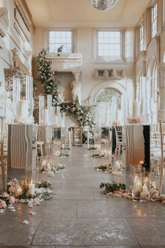 Lydia Elise Millen Venue styling & floristry by Maison De Fleurs Winter Wedding 2017 Aynhoe Park