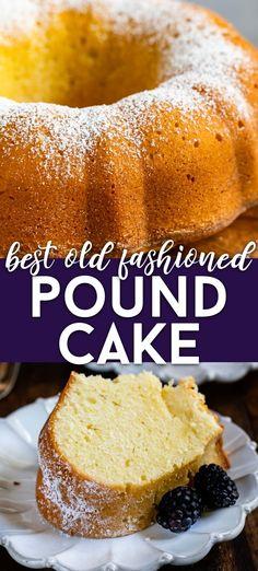 Classic Pound Cake Recipe (Sour Cream Pound Cake) - Crazy for Crust Classic Pound Cake Recipe, Best Pound Cake Recipe, Classic Cake, Pound Cake Recipes, Frosting Recipes, Cheesecake Recipes, Dessert Recipes, Pound Cakes, Fun Recipes
