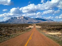 Lonesome Highway, Guadalupe Mountains, Texas - probably I have been down the same road...