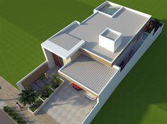 Fachada de Projeto de Casa com Arquitetura Moderna em Condominio na Regiao de Campinas com Estrutura Metalica e Bastante Vidro