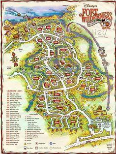 Disney's Fort Wilderness Map