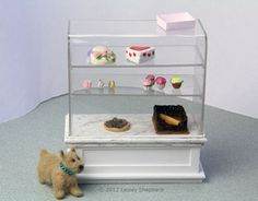 "Make a Miniature ""Glass"" Showcase for a Dollhouse Shop: Make a 'Glass' Showcase For a Dollhouse Shop"