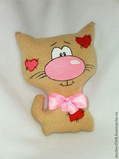 Кот Сердечкин - коричневый,кофейная игрушка,кот,чердачная…