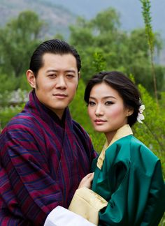 The King and Queen of Bhutan
