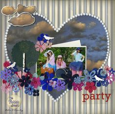 Chattering Robins tutorial for this fun Scrapbook layout design