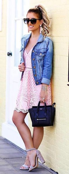 summer outfits Perfect Summer Outfit: Denim Jacket + Dress + Bag 60 Outfit Ideas For Every Type Of Date Of Course, We Love Shopping As Much As The Next Person. And With Fashion's Consistent Rotation Of Trends, It's Impossible To Not Want To Score The Of-the-moment Ruffled Top Or Ribbon-decorated Flats For Yourself.