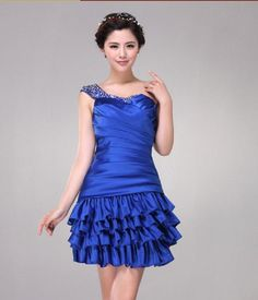 One Shoulder Sequins Sexy Bridesmaid Dress Homecoming Dress A-Line Wedding Dresses | Buy Wholesale On Line Direct from China
