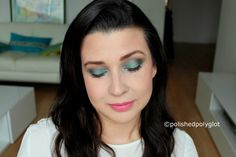 Makeup │Spring Look in Emerald green and Pink [Monday Shadow Challenge] No Photoshop, Spring Looks, Emerald Green, Makeup Looks, Filter, Pink, That Look, Challenges, English