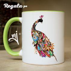 Taza Pavo Real – Regala.pe – Regalos originales y personalizados Lima – Peru