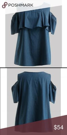 Plus Denim Cutout Chambray Top 1X 2X 3X PLUS DENIM CUTOUT CHAMBRAY TOP. THIS TOP IS TOO PRECIOUS & VERY COMFORTABLE! 97% COTTON 3% POLYESTER. MADE IN THE USA... true to size Fashionomics Tops Tees - Short Sleeve
